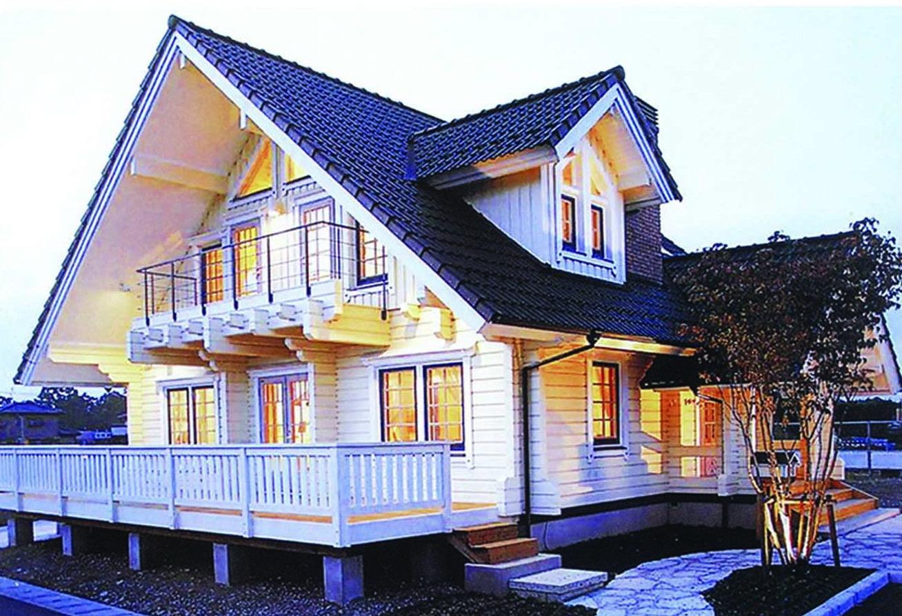 落叶松木结构别墅